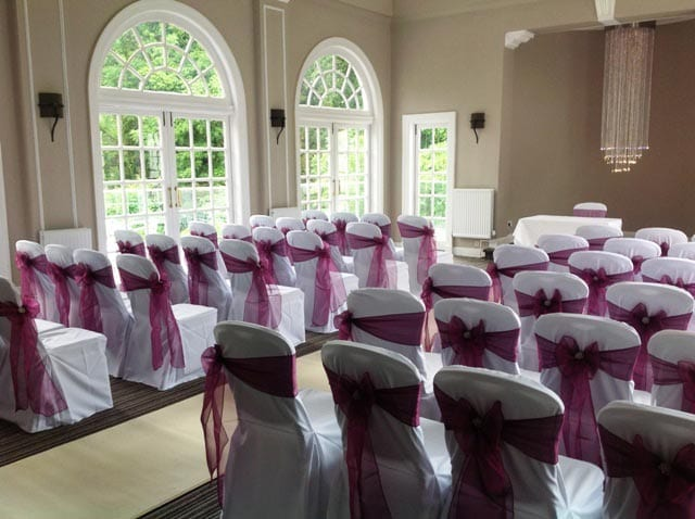 The Elibank Suite laid out for a wedding ceremony