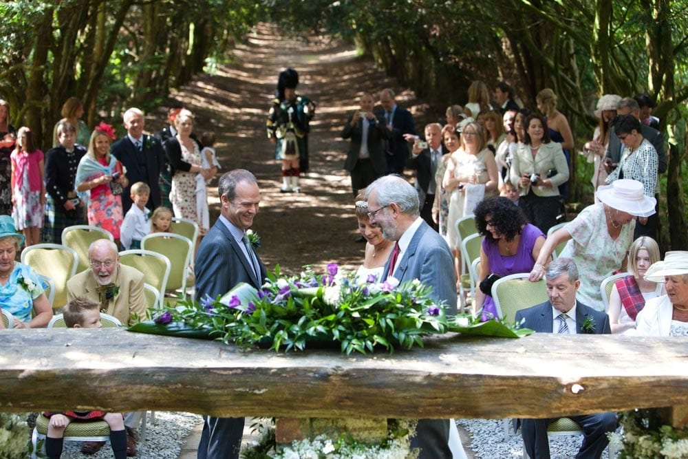 A wedding taking place at the Altar