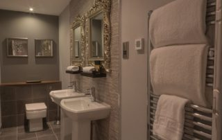 Bathroom of the Dean View Suite at Barony Castle