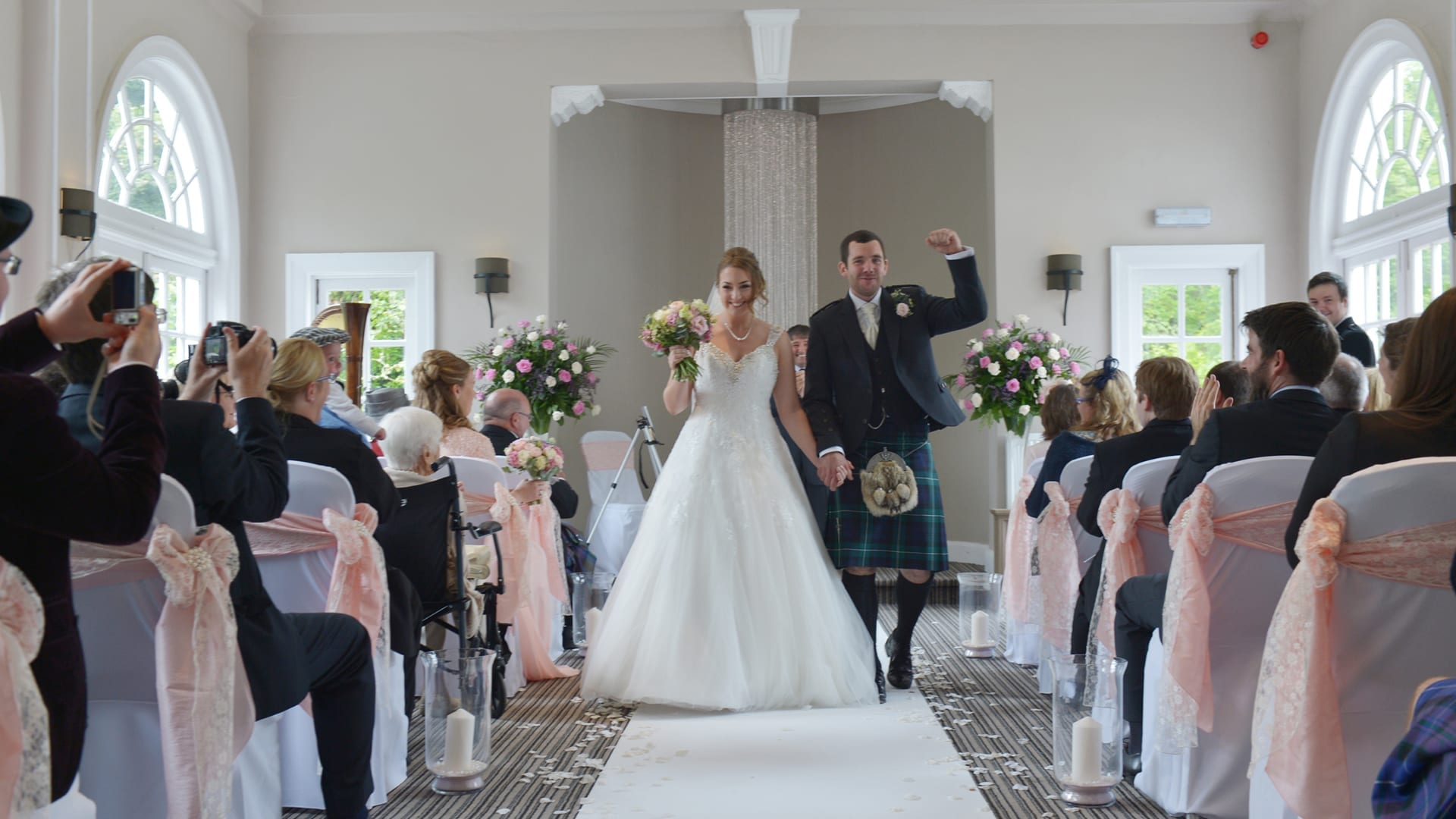 Wedding ceremony in the Elibank Suite at Barony Castle